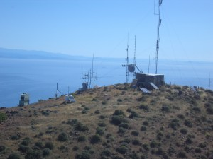SBARC's Diablo Peak site on Santa Cruz Island