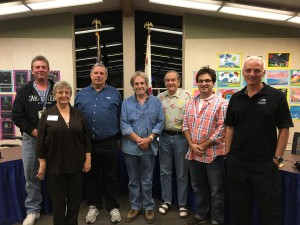 SBARC Board for 2016, left to right - Frank Dambach K6FLD - Director, Dorothy Oksner K6DSO - Secretary, Tom Saunders N6YX Treasurer and CFO, Brian Milburn K6BPM - President and CEO, Jay Hennigan WB6RDV - Director, Levi Maaia K6LCM - Director, and Theo Howe KK6YYZ  - Director